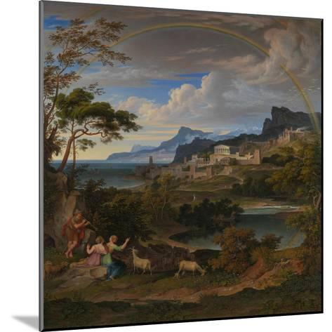 Heroic Landscape with Rainbow, 1824-Joseph Anton Koch-Mounted Giclee Print