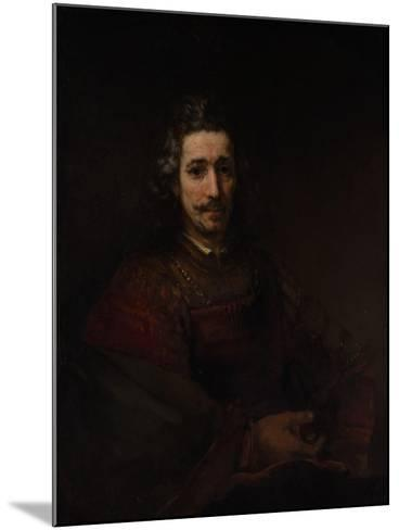 Man with a Magnifying Glass, c.1660-Rembrandt van Rijn-Mounted Giclee Print