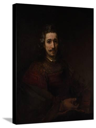 Man with a Magnifying Glass, c.1660-Rembrandt van Rijn-Stretched Canvas Print