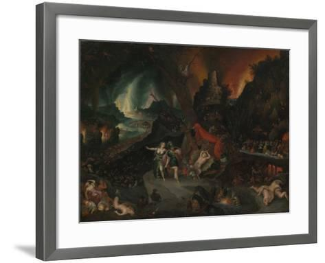Aeneas and the Sibyl in the Underworld, 1630s-Jan the Younger Brueghel-Framed Art Print