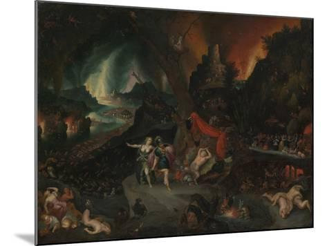 Aeneas and the Sibyl in the Underworld, 1630s-Jan the Younger Brueghel-Mounted Giclee Print