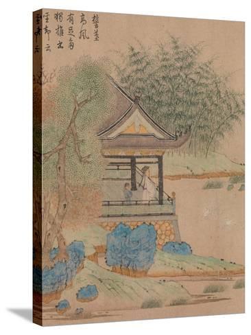 Wang Xizhi watching geese, Handscroll. c.1295-Qian Xuan-Stretched Canvas Print