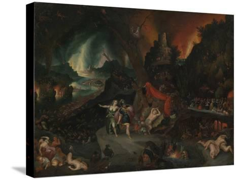Aeneas and the Sibyl in the Underworld, 1630s-Jan the Younger Brueghel-Stretched Canvas Print