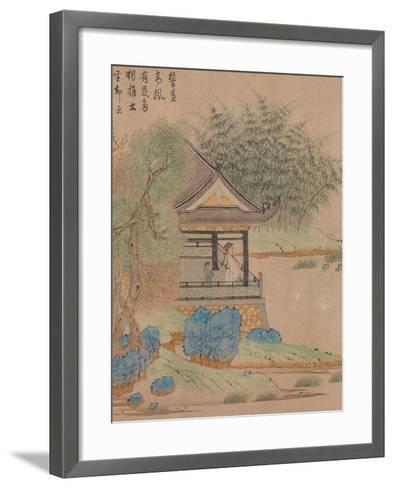 Wang Xizhi watching geese, Handscroll. c.1295-Qian Xuan-Framed Art Print