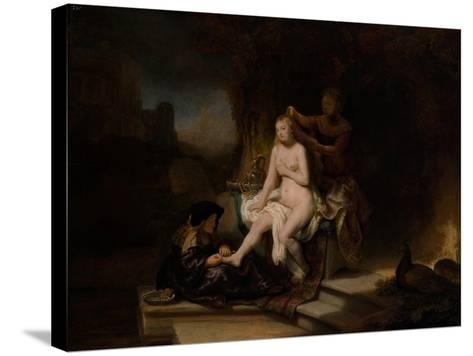The Toilet of Bathsheba, 1643-Rembrandt van Rijn-Stretched Canvas Print