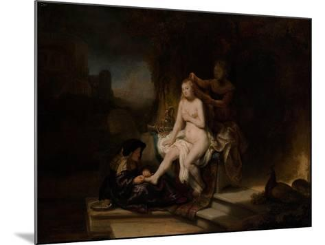 The Toilet of Bathsheba, 1643-Rembrandt van Rijn-Mounted Giclee Print