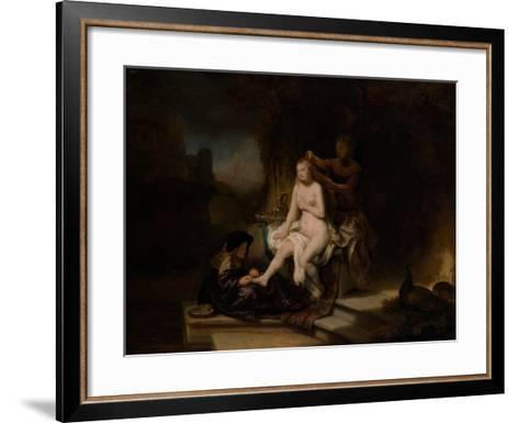 The Toilet of Bathsheba, 1643-Rembrandt van Rijn-Framed Art Print