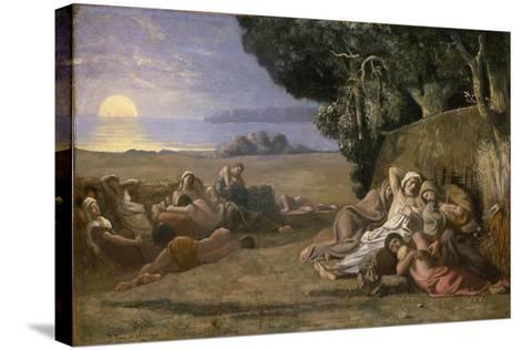 Sleep, c.1867-70-Pierre Puvis de Chavannes-Stretched Canvas Print