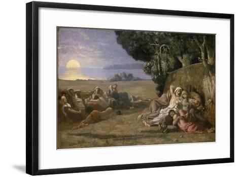 Sleep, c.1867-70-Pierre Puvis de Chavannes-Framed Art Print