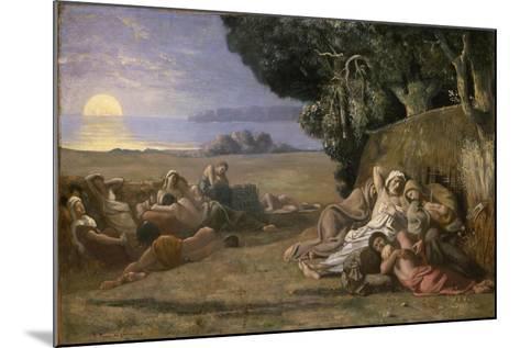 Sleep, c.1867-70-Pierre Puvis de Chavannes-Mounted Giclee Print