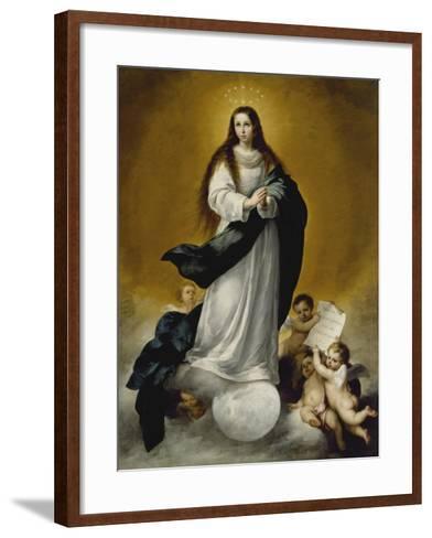 The Virgin of the Immaculate Conception, c.1660-Bartolome Esteban Murillo-Framed Art Print
