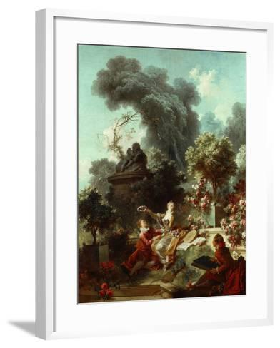 The Progress of Love: The Lover Crowned, 1771-72-Jean-Honore Fragonard-Framed Art Print