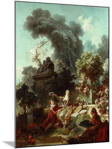 The Progress of Love: The Lover Crowned, 1771-72-Jean-Honore Fragonard-Mounted Giclee Print