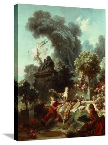 The Progress of Love: The Lover Crowned, 1771-72-Jean-Honore Fragonard-Stretched Canvas Print