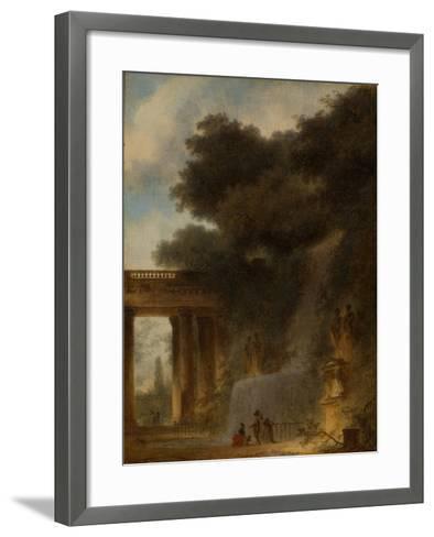 The Cascade, c.1775-Jean-Honore Fragonard-Framed Art Print