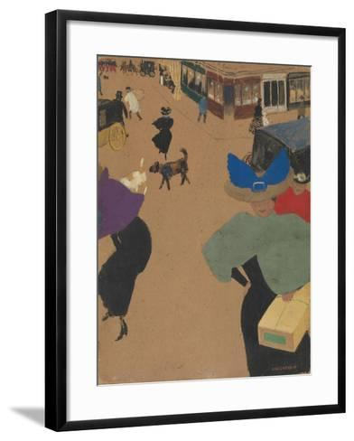 Street Scene in Paris (Coin de rue à Paris), 1895-Felix Edouard Vallotton-Framed Art Print