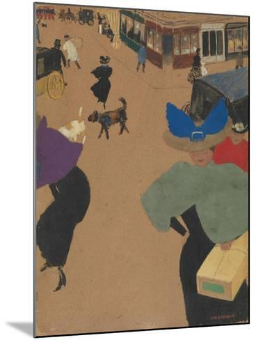 Street Scene in Paris (Coin de rue à Paris), 1895-Felix Edouard Vallotton-Mounted Giclee Print