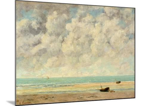 The Calm Sea, 1869-Gustave Courbet-Mounted Giclee Print