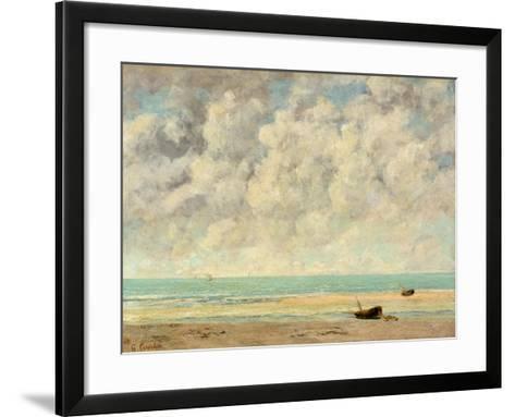 The Calm Sea, 1869-Gustave Courbet-Framed Art Print