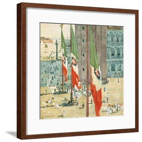 Piazza di San Marco, c.1898–99-Maurice Brazil Prendergast-Framed Art Print