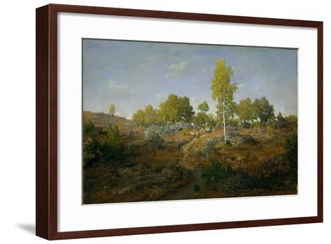 A Path among the Rocks, c.1861-Pierre Etienne Theodore Rousseau-Framed Art Print