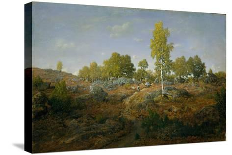 A Path among the Rocks, c.1861-Pierre Etienne Theodore Rousseau-Stretched Canvas Print