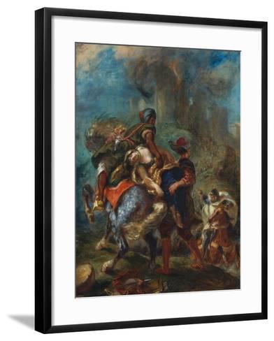 The Abduction of Rebecca, 1846-Eugene Delacroix-Framed Art Print