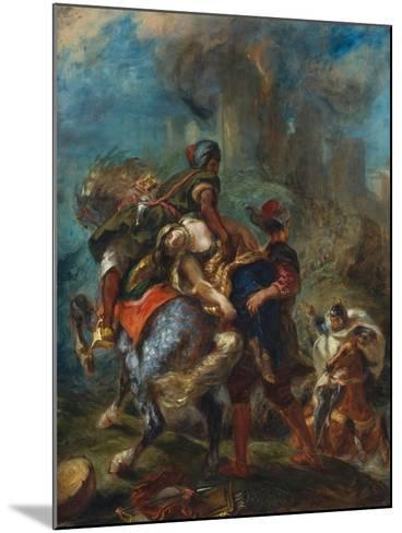 The Abduction of Rebecca, 1846-Eugene Delacroix-Mounted Giclee Print