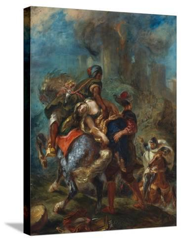 The Abduction of Rebecca, 1846-Eugene Delacroix-Stretched Canvas Print