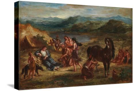 Ovid among the Scythians, 1862-Eugene Delacroix-Stretched Canvas Print