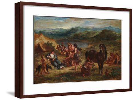 Ovid among the Scythians, 1862-Eugene Delacroix-Framed Art Print