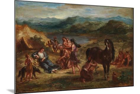 Ovid among the Scythians, 1862-Eugene Delacroix-Mounted Giclee Print