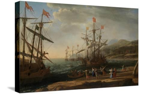 The Trojan Women Setting Fire to Their Fleet, c.1643-Claude Lorraine-Stretched Canvas Print