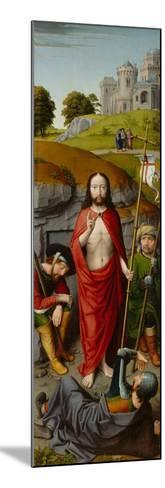 The Resurrection, with the Pilgrims of Emmaus, c.1510-Gerard David-Mounted Giclee Print
