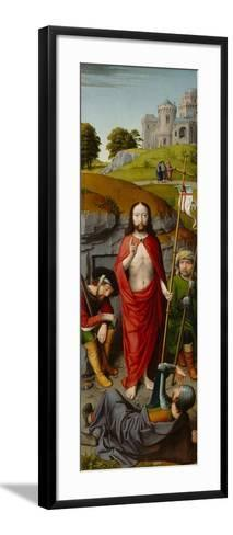 The Resurrection, with the Pilgrims of Emmaus, c.1510-Gerard David-Framed Art Print