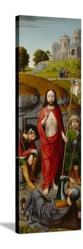 The Resurrection, with the Pilgrims of Emmaus, c.1510-Gerard David-Stretched Canvas Print