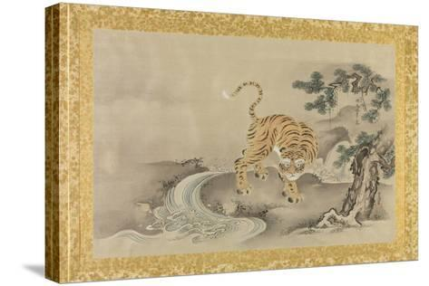 Album of Copies of Chinese Paintings, Album Leaf-Kano Tsunenobu-Stretched Canvas Print
