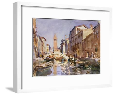 Venetian Canal, 1913-John Singer Sargent-Framed Art Print