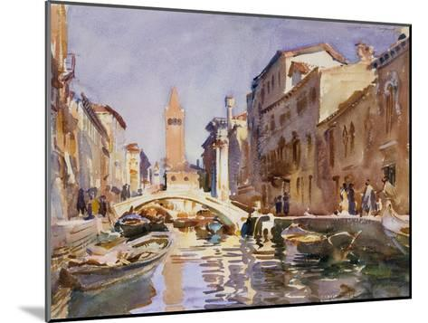 Venetian Canal, 1913-John Singer Sargent-Mounted Giclee Print