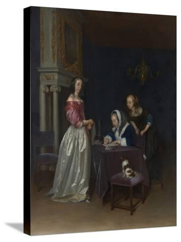 Curiosity, c.1660-62-Gerard ter Borch or Terborch-Stretched Canvas Print