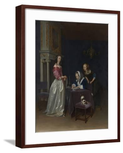 Curiosity, c.1660-62-Gerard ter Borch or Terborch-Framed Art Print
