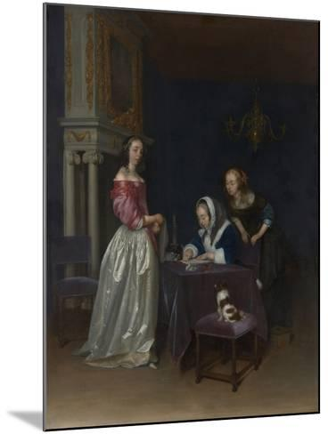 Curiosity, c.1660-62-Gerard ter Borch or Terborch-Mounted Giclee Print