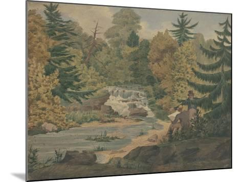 View of the Second Falls on the Sawkill near Mr. Montgomery's-John Rubens Smith-Mounted Giclee Print
