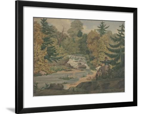 View of the Second Falls on the Sawkill near Mr. Montgomery's-John Rubens Smith-Framed Art Print