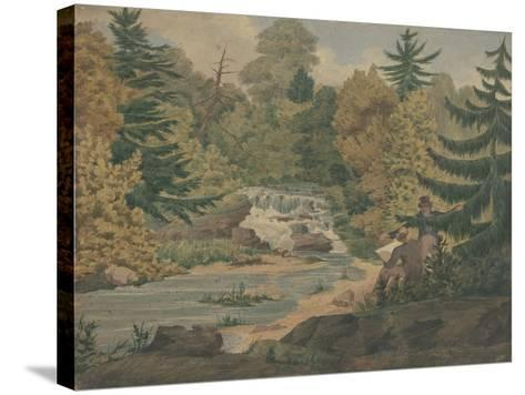 View of the Second Falls on the Sawkill near Mr. Montgomery's-John Rubens Smith-Stretched Canvas Print