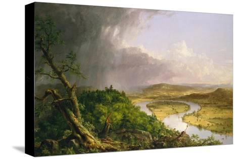 View from Mount Holyoke, Northampton, Massachusetts, after a Thunderstorm?The Oxbow, 1836-Thomas Cole-Stretched Canvas Print