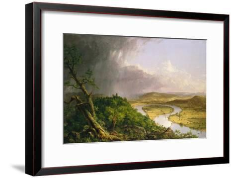 View from Mount Holyoke, Northampton, Massachusetts, after a Thunderstorm?The Oxbow, 1836-Thomas Cole-Framed Art Print