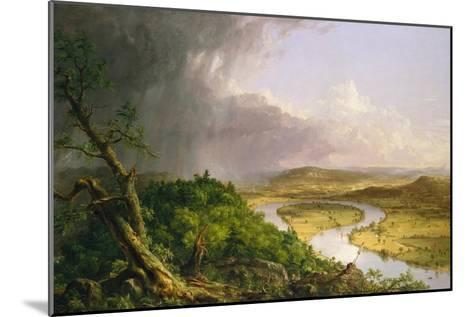 View from Mount Holyoke, Northampton, Massachusetts, after a Thunderstorm?The Oxbow, 1836-Thomas Cole-Mounted Giclee Print