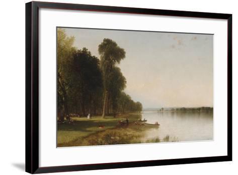 Summer Day on Conesus Lake, 1870-John Frederick Kensett-Framed Art Print