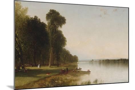 Summer Day on Conesus Lake, 1870-John Frederick Kensett-Mounted Giclee Print